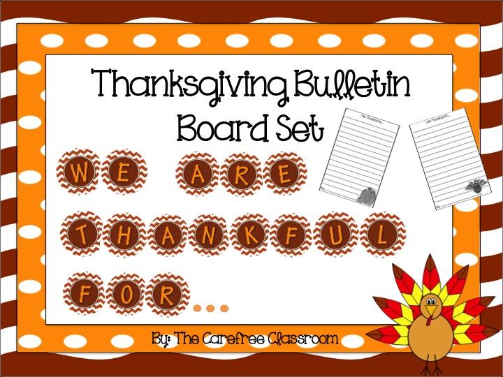 Bulletin Board Set: Thanksgiving Writing Set