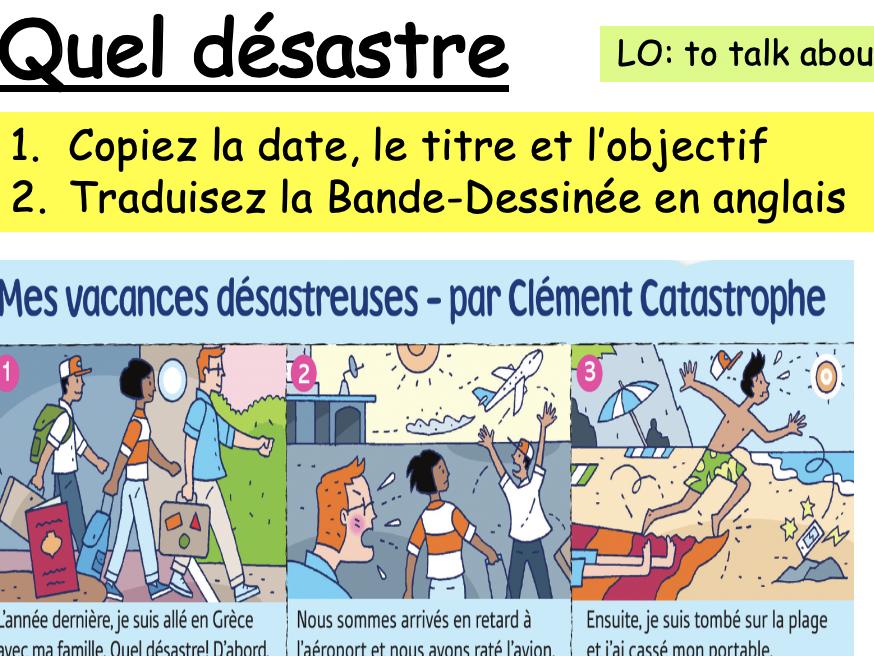 Year 8 French - Dynamo 2 - Module 1 Les Vacances