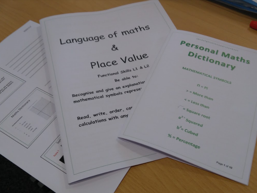 Functional Skills Maths Place value & language of maths. Whole lesson & resource booklet & answers