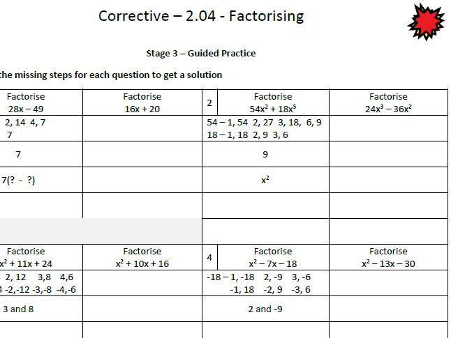 Factorising Corrective