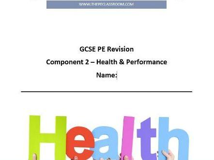 Edexcel 9-1 GCSE PE. Component 2 Revision Workbook.