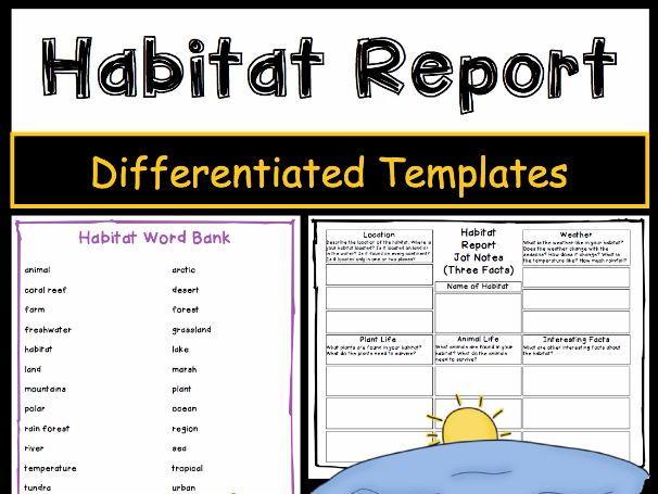 Habitat Report: Tiered Report Writing Templates