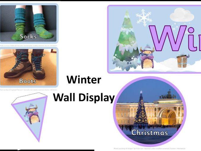 Winter Wall Display, Winter Topic, Door Display, Winter Banner