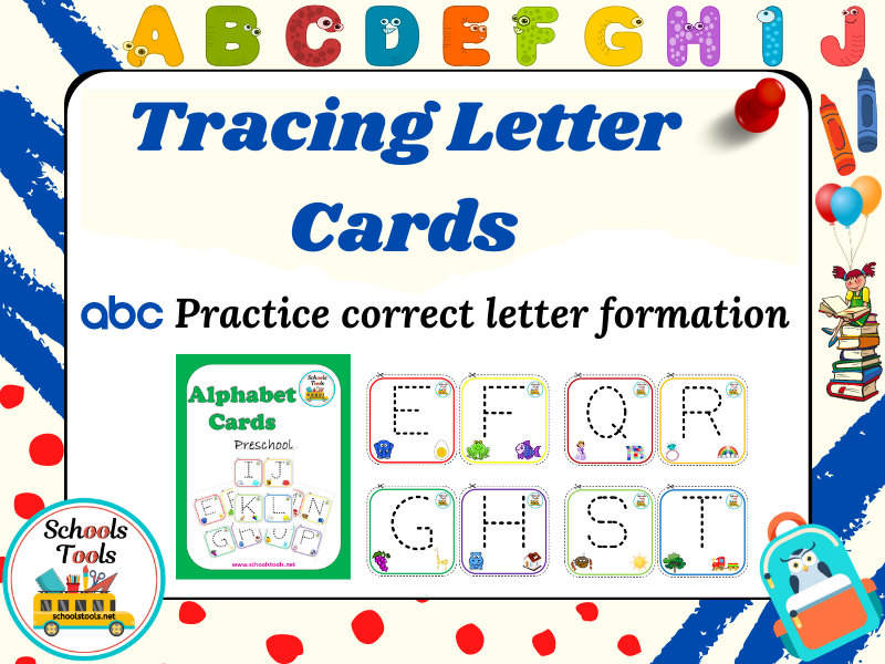 Tracing Letters Cards