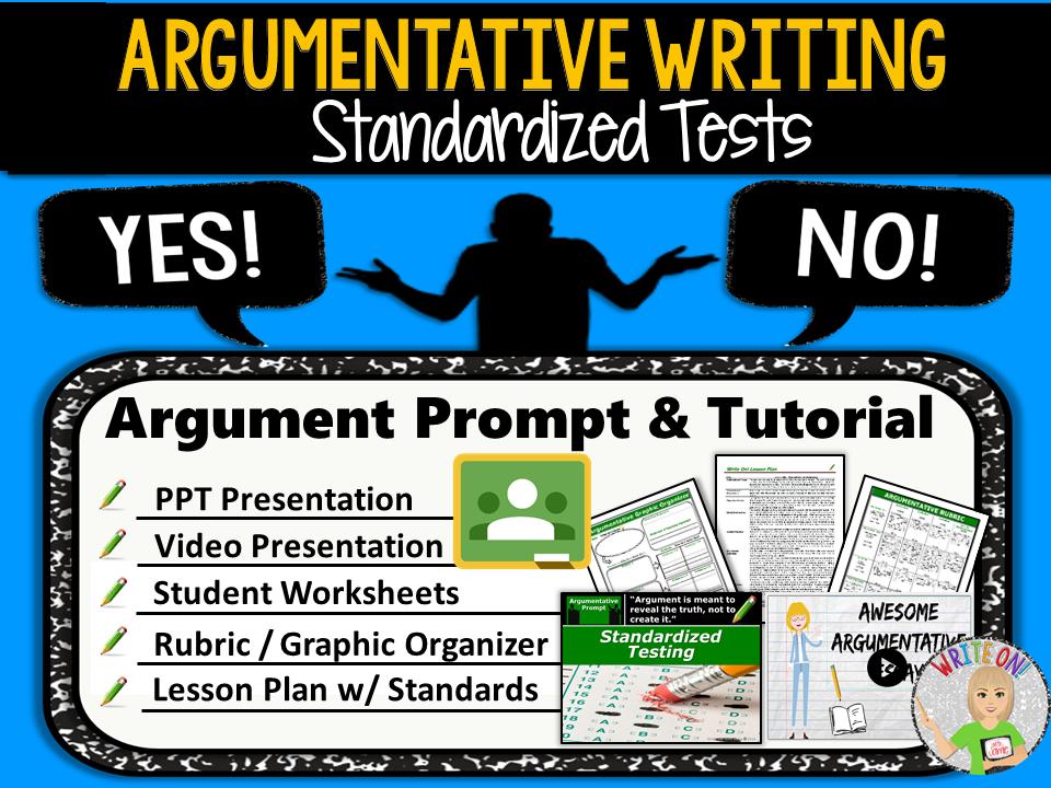 Argumentative Writing Lesson / Prompt – Digital Resource – Standarized Tests – Middle School