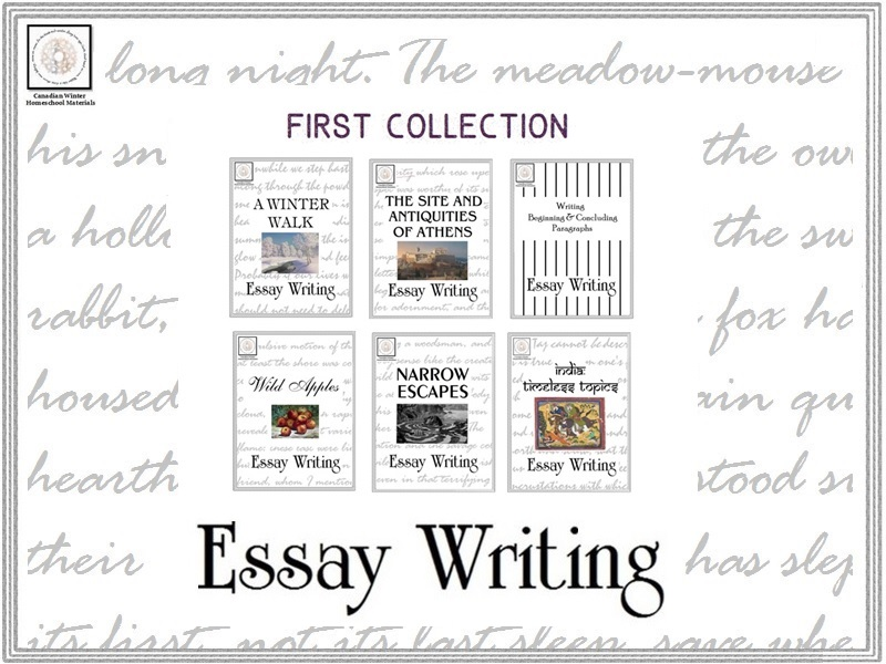 Essay Writing: First Collection