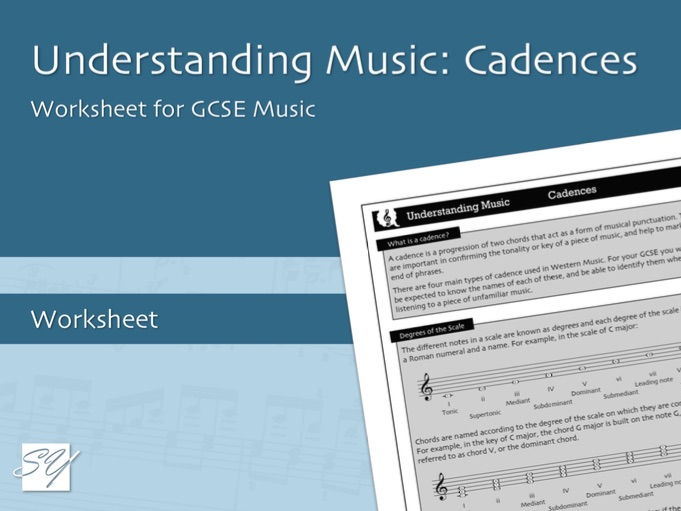 Understanding Music: Cadences - Worksheet for GCSE Music