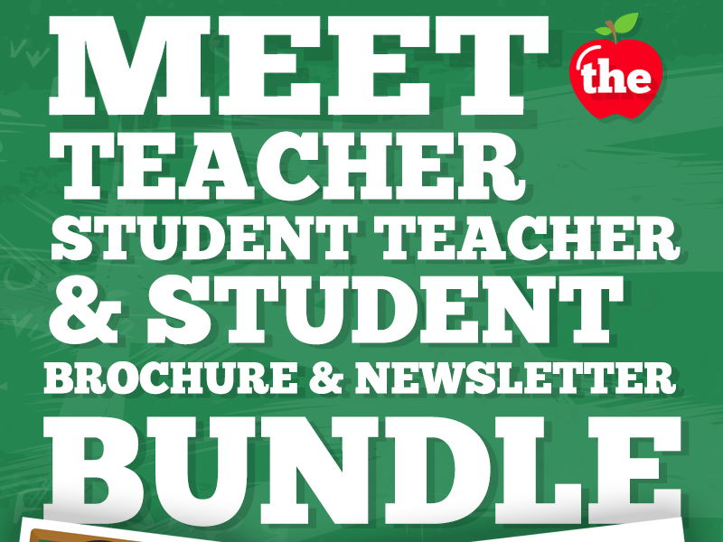 Meet the Teacher, Student Teacher, Student Flyer or Brochure BUNDLE