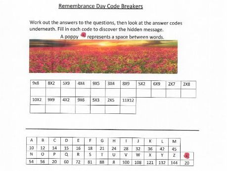 Remembrance Day code breakers