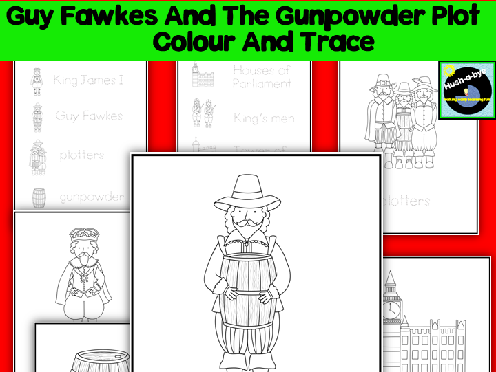Guy Fawkes And The Gunpowder Plot Colour And Trace