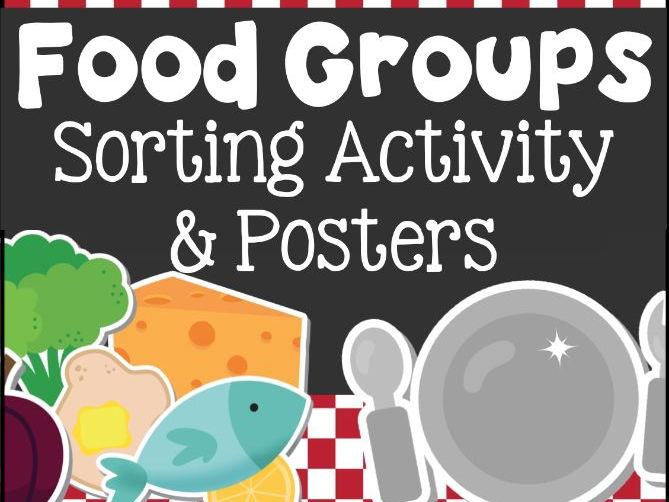 Food Groups Sorting Activity and Posters