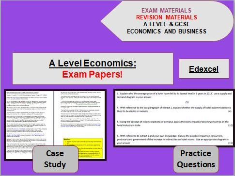 A Level Economics Exam Papers x 13