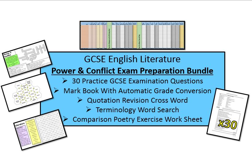 Power & Conflict Poetry Revision & Exam Practice Bundle (AQA, 9-1 GCSE)