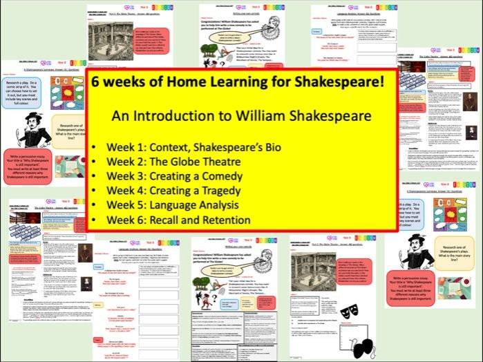 6 Week Home Learning: Intro to Shakespeare