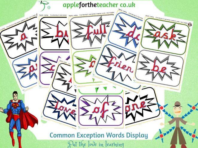 Common Exception Words Display KS1
