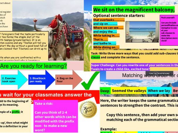 Year 9 Non-Fiction Travel Writing/Writing to reflect