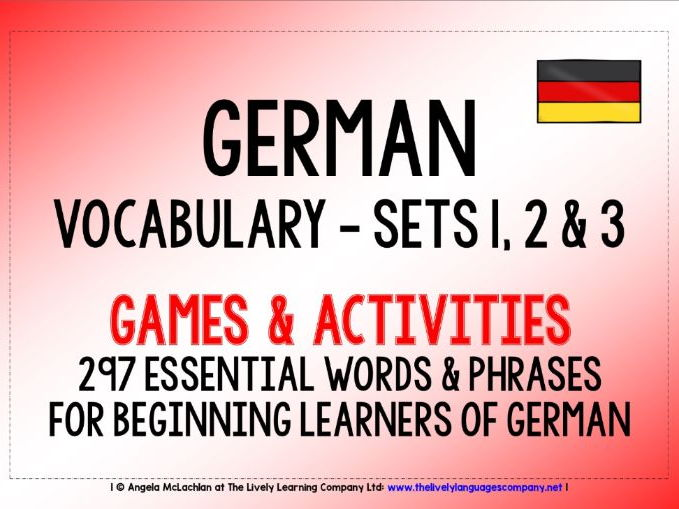 GERMAN VOCABULARY (1-3) - PRACTICE & REVISION - 297 WORDS & PHRASES