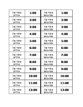 Hōra (Time in Latin) Dominoes