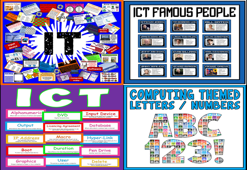 *BUNDLE *  IT ICT COMPUTING COMPUTER STUDIES  ACTIVITIES AND DISPLAYS