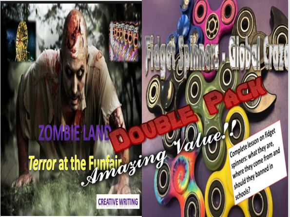 Zombie Land and Fidget Spinners Double Pack with Starters