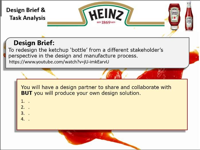 Product Design A Level Project Redesign the ketchup bottle