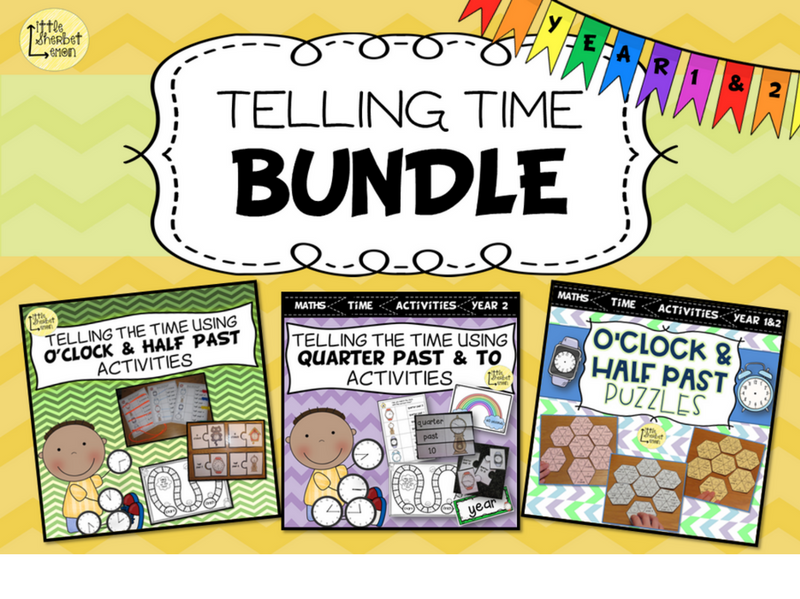 Telling the Time Bundle for Year 1 & 2