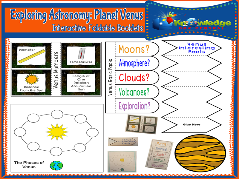 Exploring Astronomy: Planet Venus Interactive Foldable Booklets