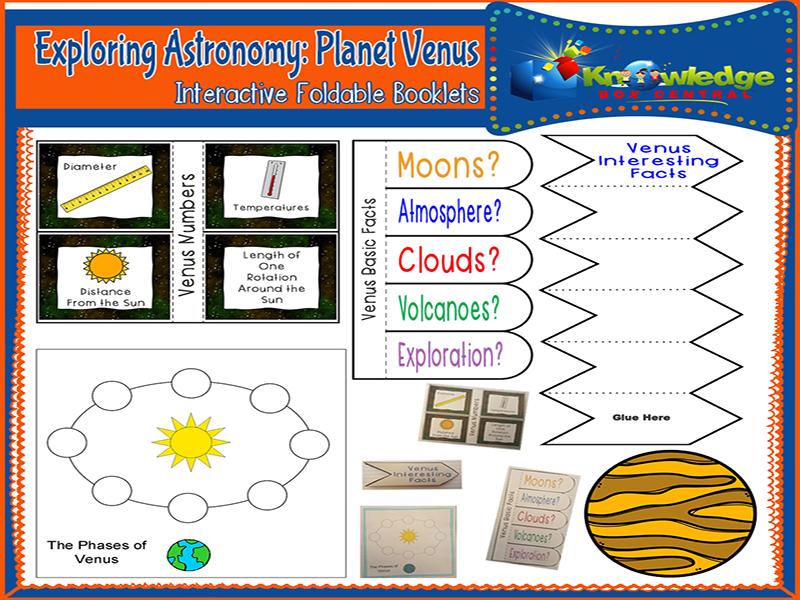 Exploring Astronomy: Planet Venus Interactive Foldable Booklets