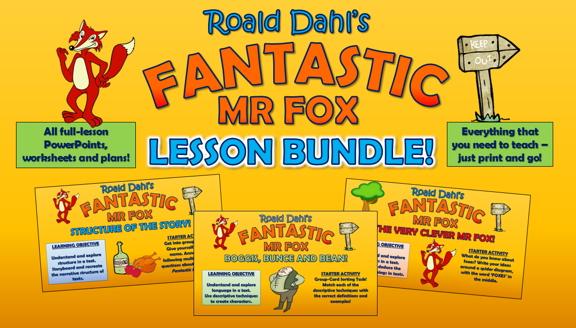 Fantastic Mr Fox Lesson Bundle!