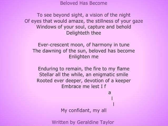 Beloved has Become -  Audio Poem