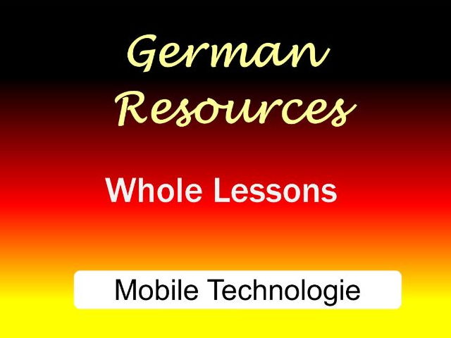 German GCSE Lessons - Technology in everyday life - Mobile technology - Das Handy
