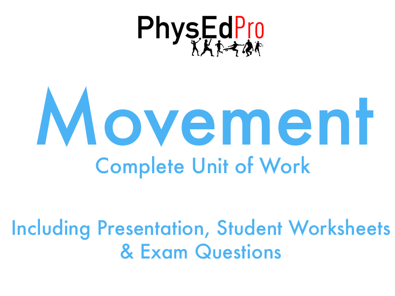 GCSE PE – Movement Analysis  - Bones, Muscles & Joints -  Unit of Work - Worksheet, Powerpoint, Exam