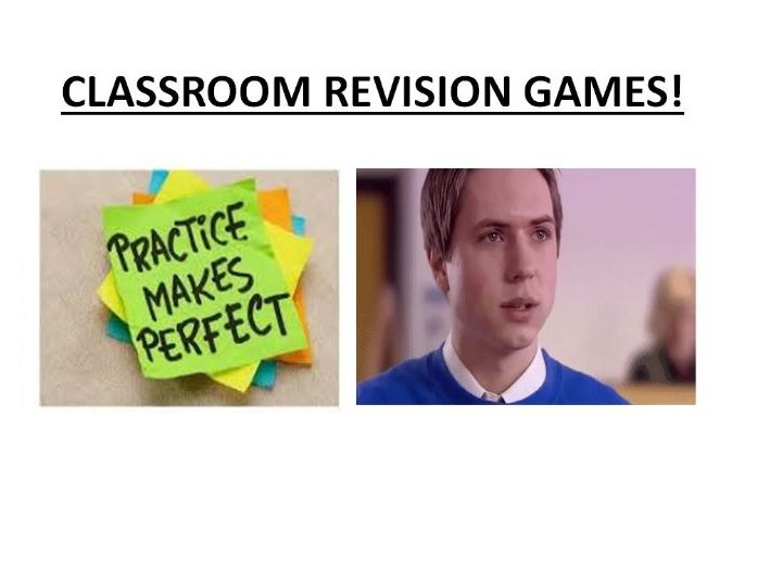 Classroom revision, recap and recall games and activities
