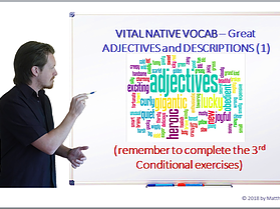 VITAL NATIVE VOCAB – Great Adjectives and Descriptions (Part 1) & 3RD Conditional Practice