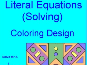 EQUATIONS: SOLVING LITERAL EQUATIONS #2 - COLORING ACTIVITY