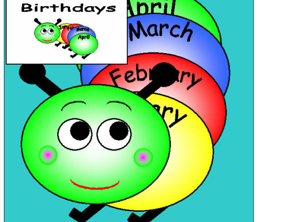BIRTHDAY CATERPILLAR CLASSROOM DISPLAY EYFS