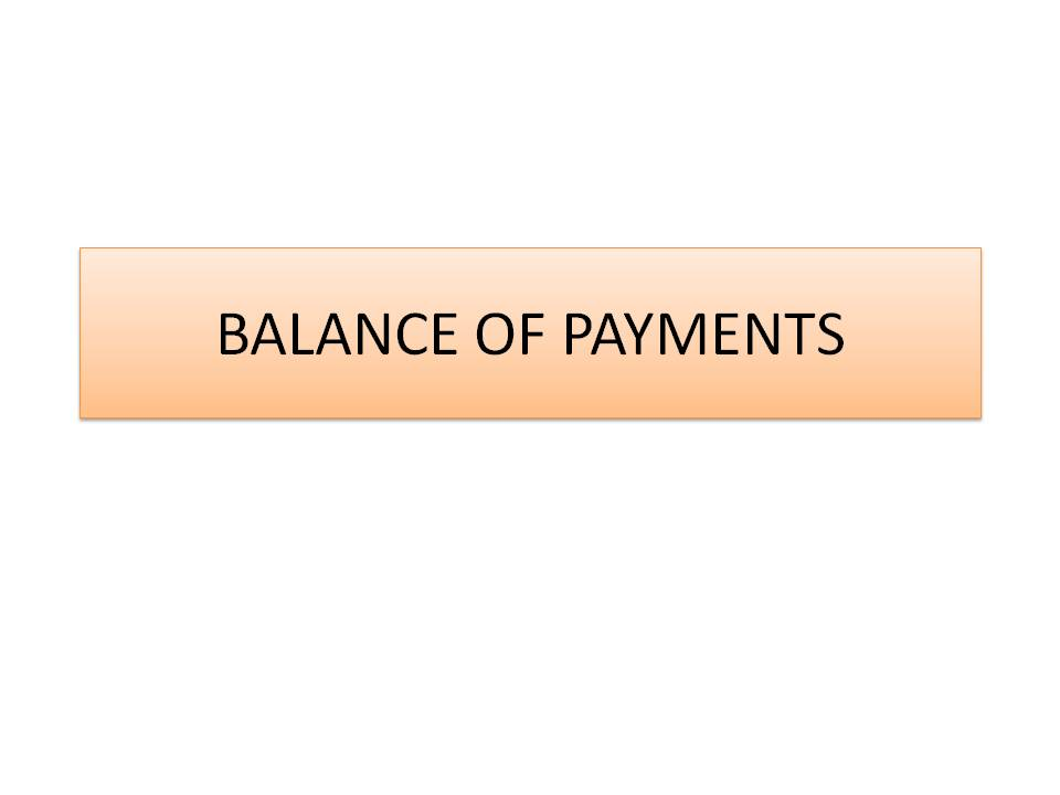 Balance of Payments for A level Economics
