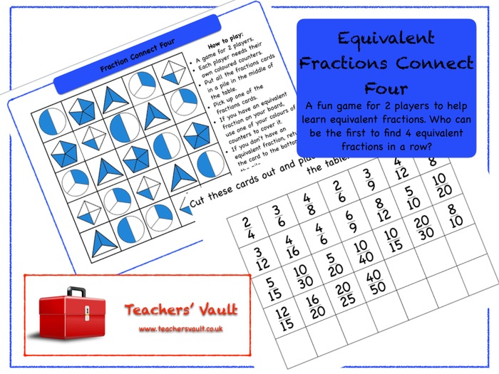 Equivalent Fractions Connect Four