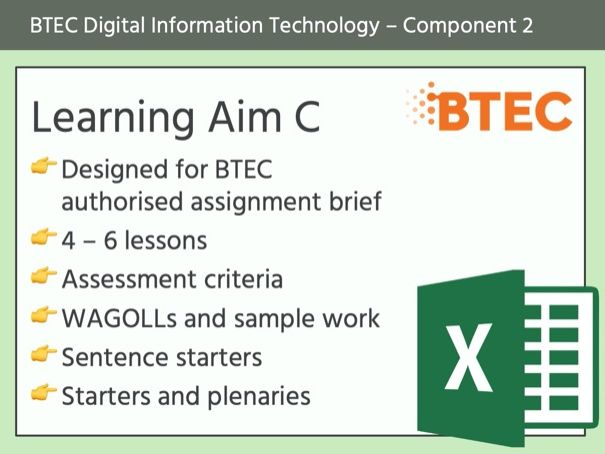 BTEC DIT - Component 2 (Learning Aim C)