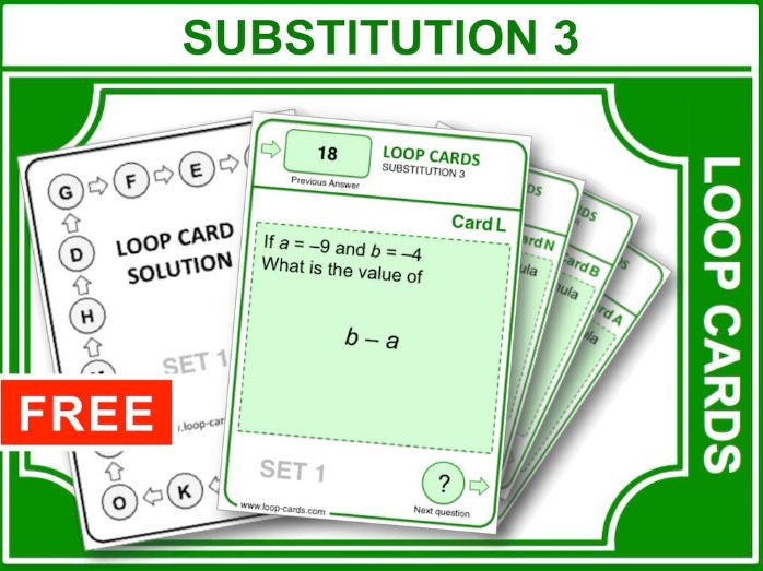 Substitution – Inc. Negative of Negatives (Loop Cards)