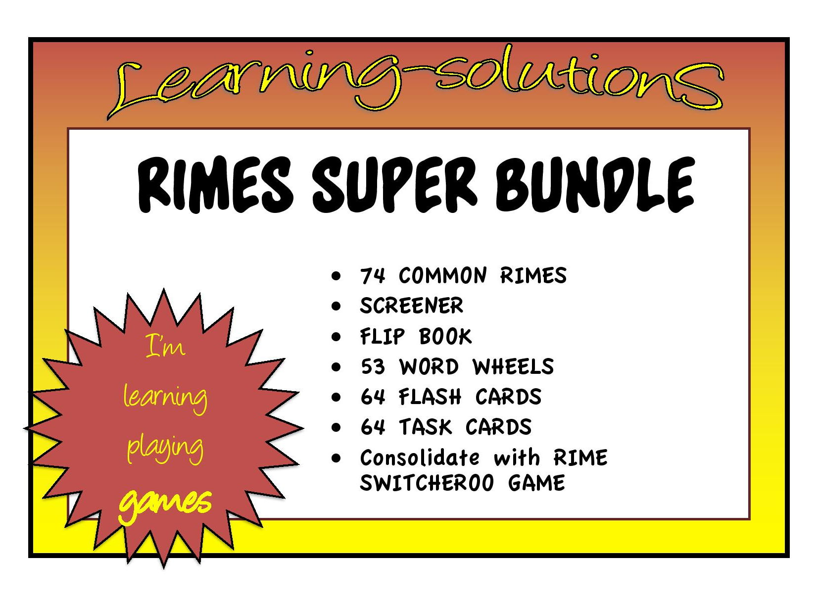 RIMES - Complete Intervention Package - Assessment/Explicit Teaching/Consolidation