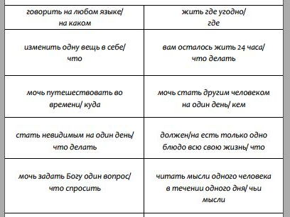 Conditionals in Russian (Speaking activity cards)