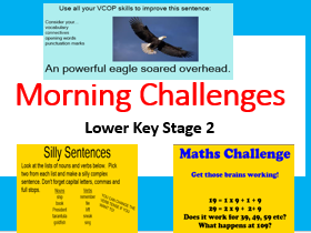 Morning Challenges- Year 4