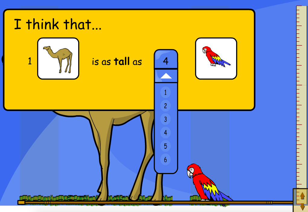 Compare Animal Height Interactive Activity - KS1 Measurement
