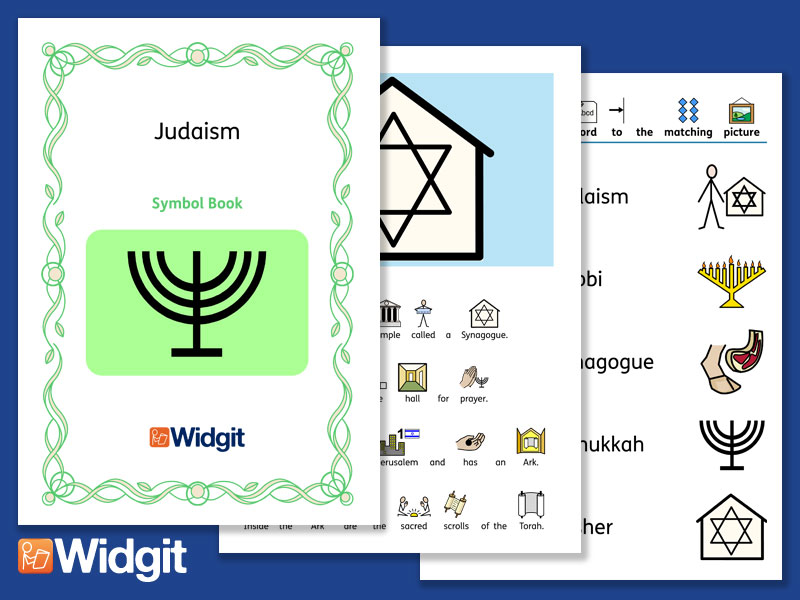 Judaism - Books and Activities with Widgit Symbols
