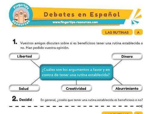 Rutinas - Debates in Spanish