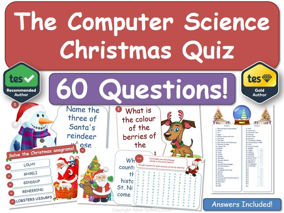 Computer Science Christmas Quiz! (Computing, ICT)