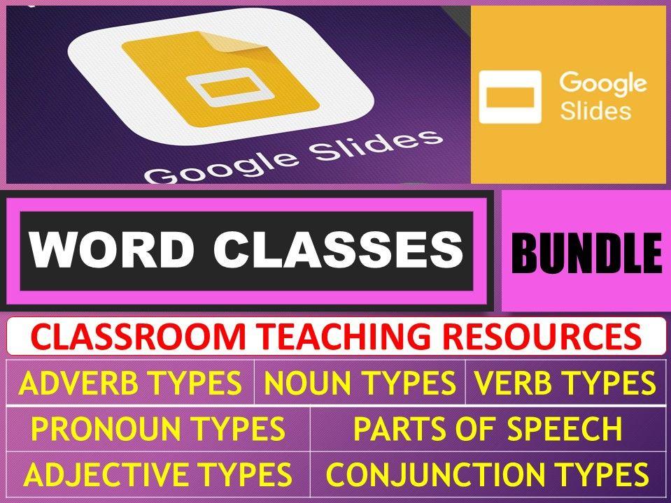WORD CLASSES: GOOGLE SLIDES - BUNDLE