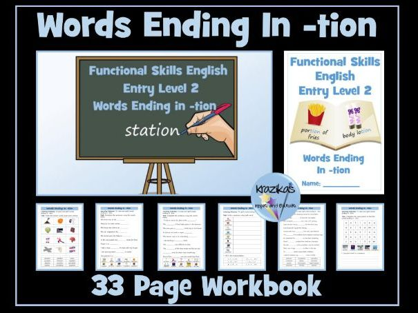 English Functional Skills - Entry Level 2 - Words Ending In -tion