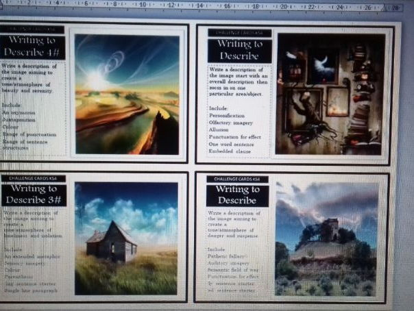 Creative and Narrative challenge cards